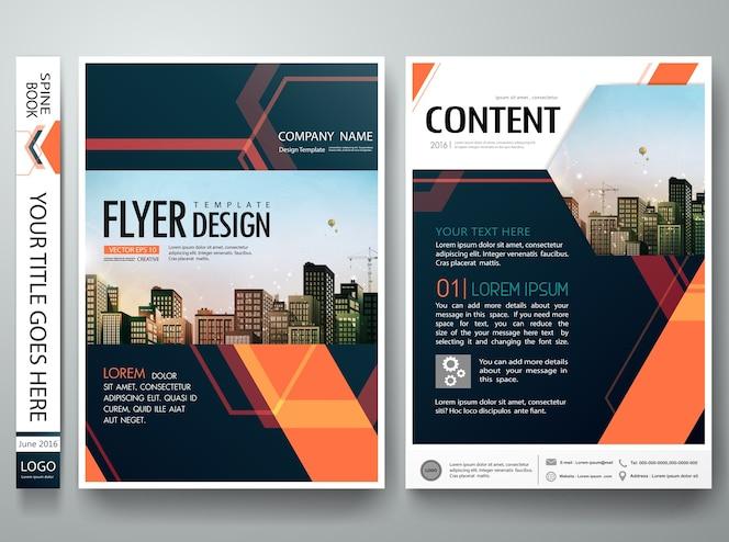 Brochura relatório panfletos design modelo vector