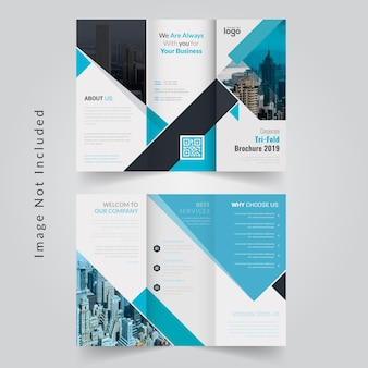 Brochura tri fold abstrata