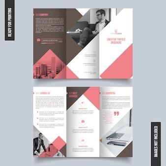 Brochura trifold limpa e única