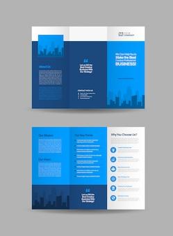 Brochuras com três dobras de negócios