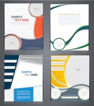 Brochuras comerciais de layout, modelo de design de folheto em tamanho a4 ou capa de revista