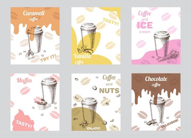 Brochuras de café vintage