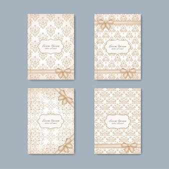 Brochuras de conjunto moderno no estilo barroco para seu projeto.