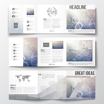Brochuras de design com três dobras