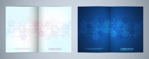 Brochuras de modelos ou design de capa