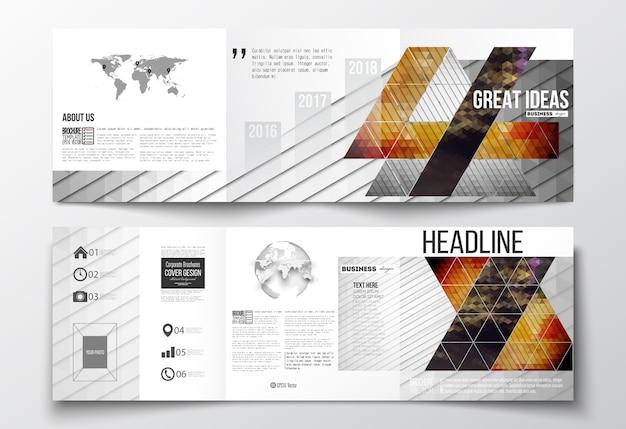 Brochuras de três dobras