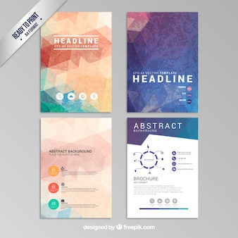 Brochuras geométricas abstratas