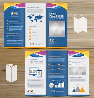 Brochure business tri fold design de vetor de folheto flyer
