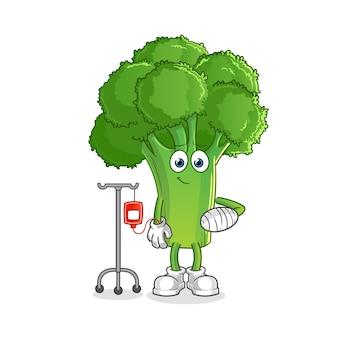 Brócolis doente na ilustração iv. personagem