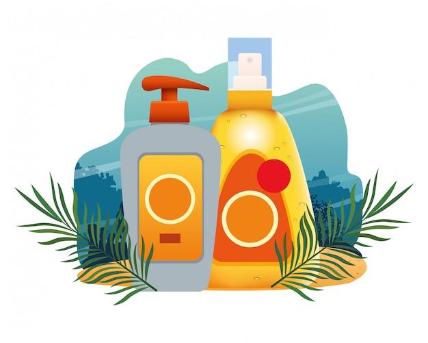 Bronzeadores solares e produtos cosméticos