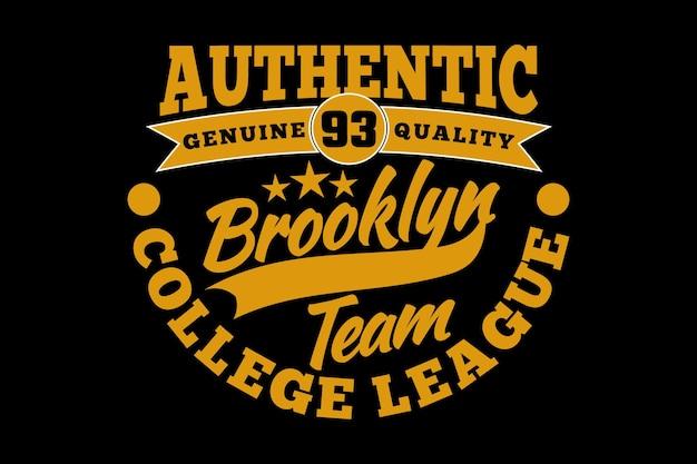 Brooklyn autêntico estilo vintage da liga universitária