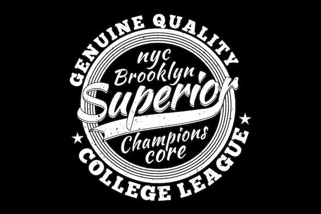 Brooklyn superior champions genuíno vintage