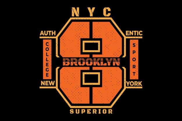 Brooklyn superior sport college vintage