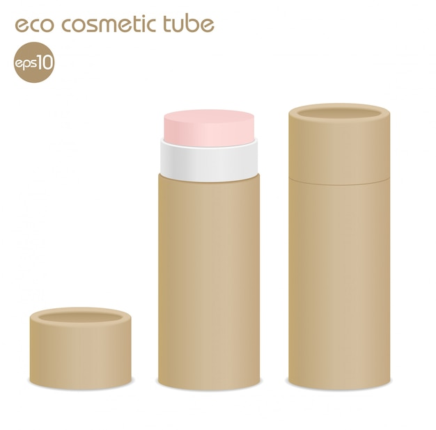 Brown eco recipientes cosméticos