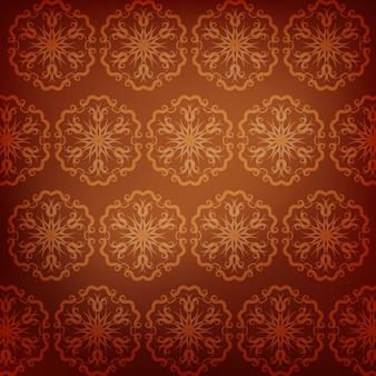 Brown padrão de mandala