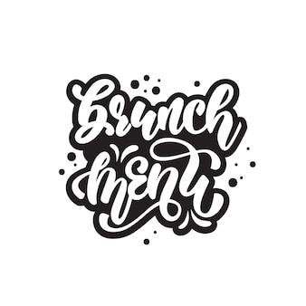 Brunch menu lettering design