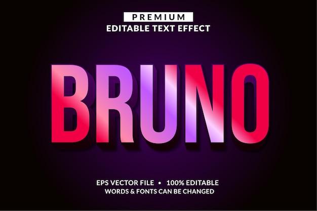 Bruno, estilo de fonte com efeito de texto editável moderno