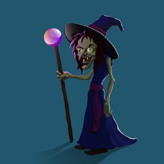 Bruxa de desenho animado