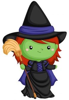 Bruxa e vassoura