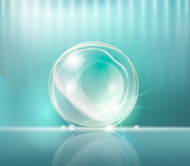 Bubble essence collagen. bola transparente.