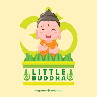 Budha linda com design plano
