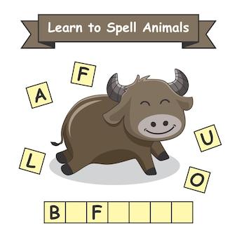 Buffalo aprenda a soletrar animais
