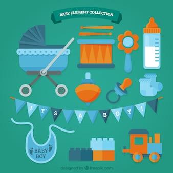 Buggy e variedade de acessórios para bebé
