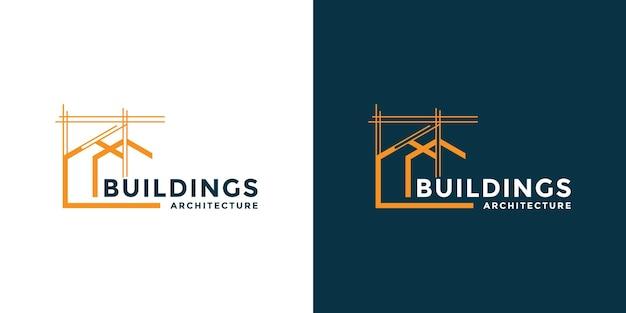 Building home logo design arquiteto construção real estate vector