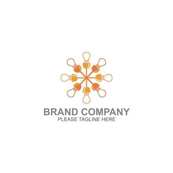 Bulb circle energy design logo