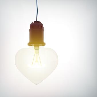 Bulbo 3d coração