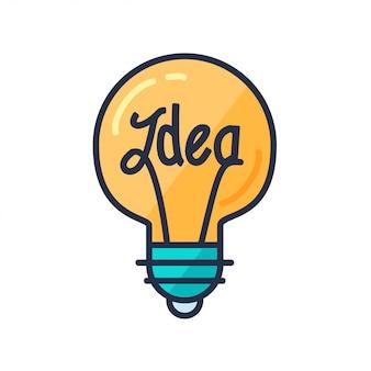 Bulbo de clip-art de grande ideia