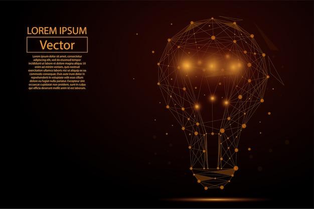 Bulbo de lâmpada que consiste em pontos
