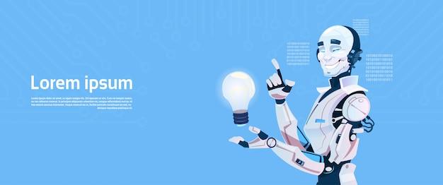 Bulbo moderno da preensão do robô, tecnologia futurista do mecanismo da inteligência artificial