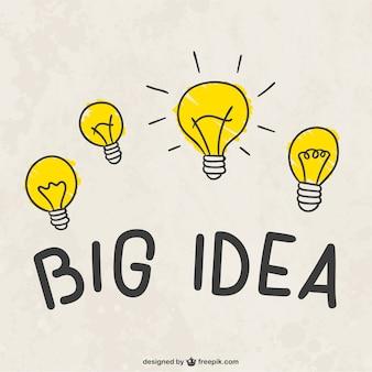 Bulbos grandes idéia de luz