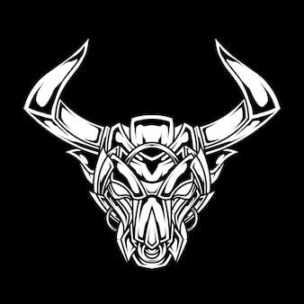 Bull abstract line art ilustração