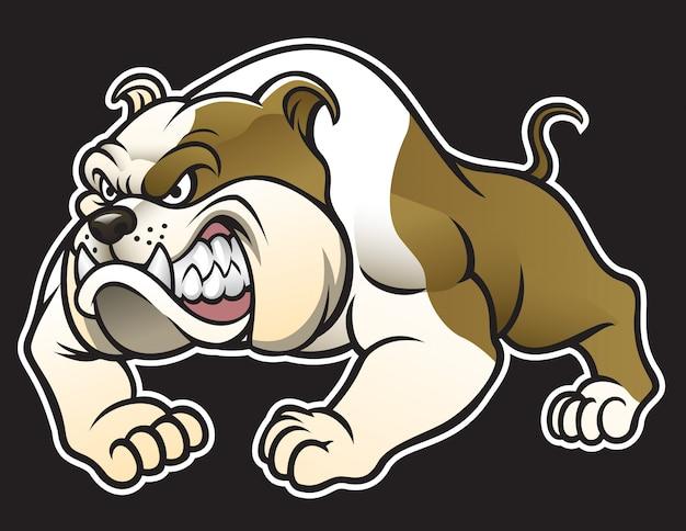 Bulldog com raiva