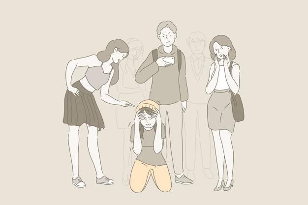 Bullying na escola e problema de zombaria.
