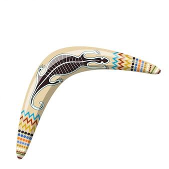 Bumerangue australiano. bumerangue de desenhos animados tribal