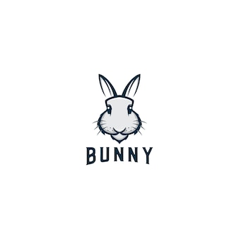 Bunny animal mascot logo design vector