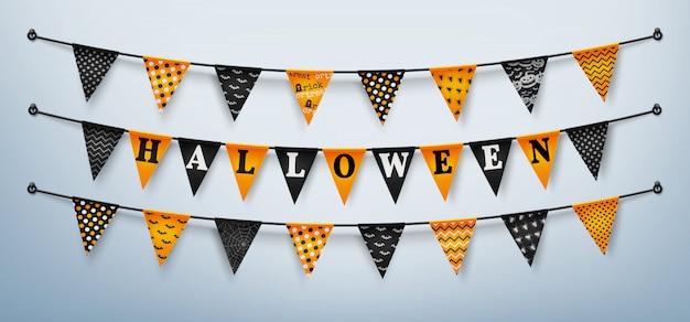Buntings de halloween para o dia das bruxas feliz