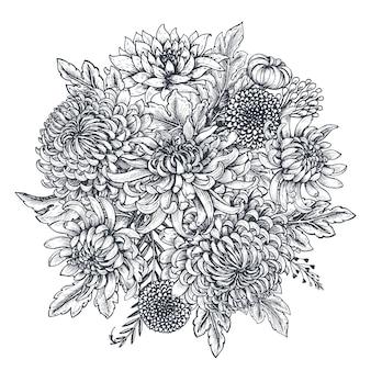 Buquê com flores de crisântemo