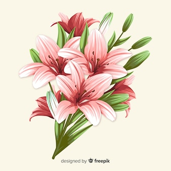 Buquê de flores botânicas vintage