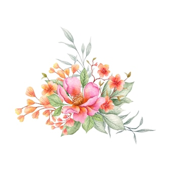 Buquê de flores coloridas de primavera