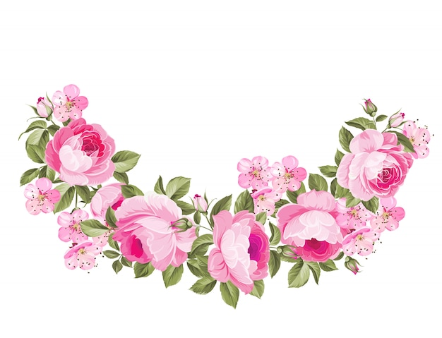 Buquê de flores da primavera.