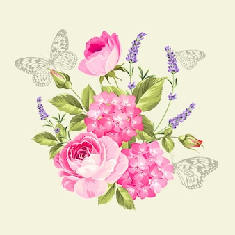 Buquê de flores de primavera