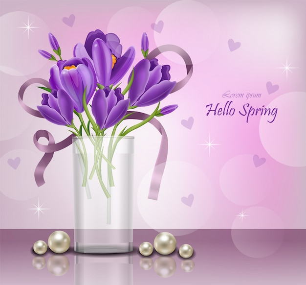 Buquê de flores de violeta ultra violeta