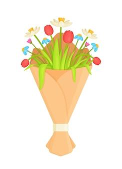 Buquê de flores em branco