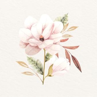 Buquê de flores em design vintage
