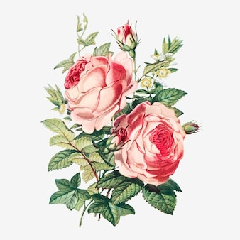 Buquê de flores vintage de verão