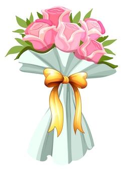 Buquê de rosas cor-de-rosa